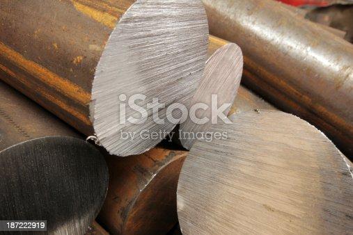 istock Solid aluminum tubes 187222919