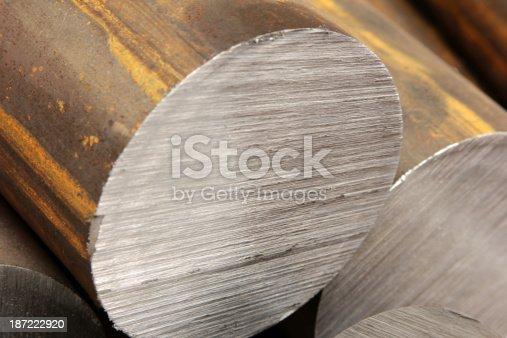 istock Solid aluminum tubes 187222920