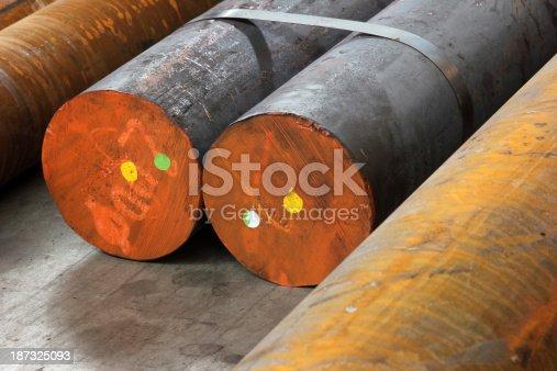 istock Solid aluminum tubes 187325093