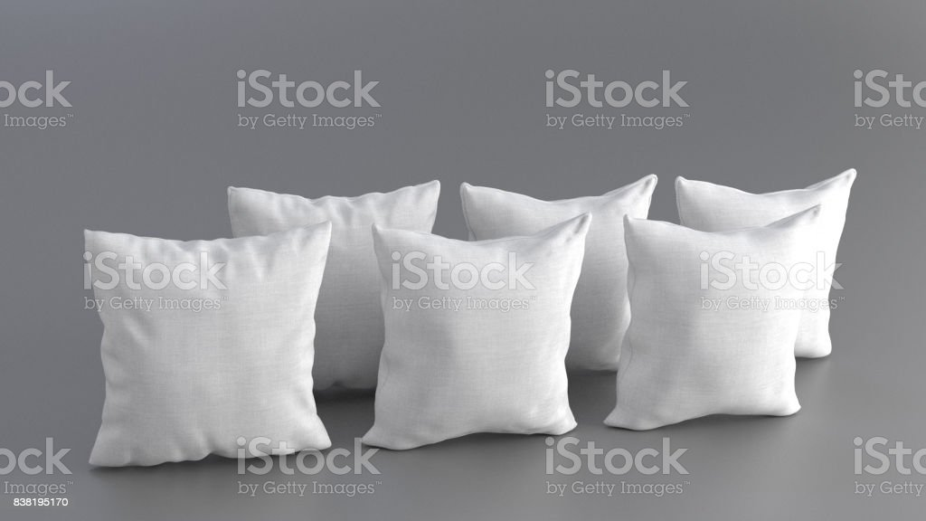 Solid and Piped Pillows stock photo