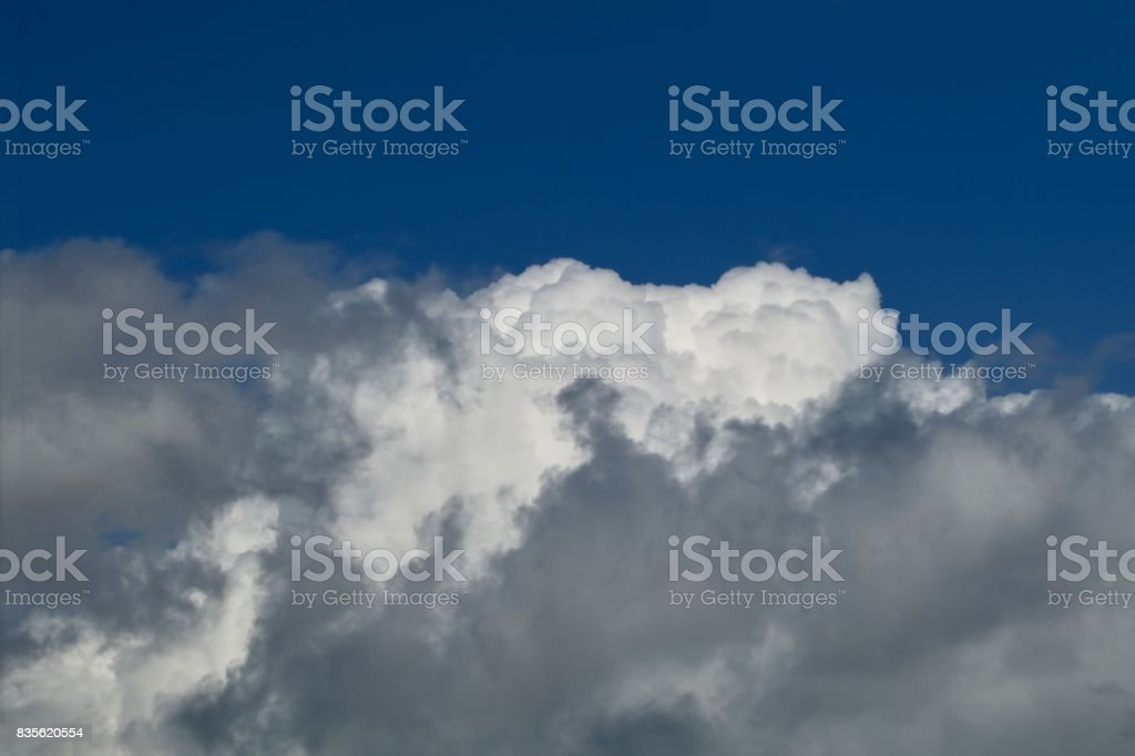 Solid cumulus stock photo