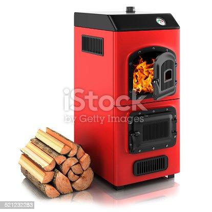 istock Solid fuel boiler. 521232283