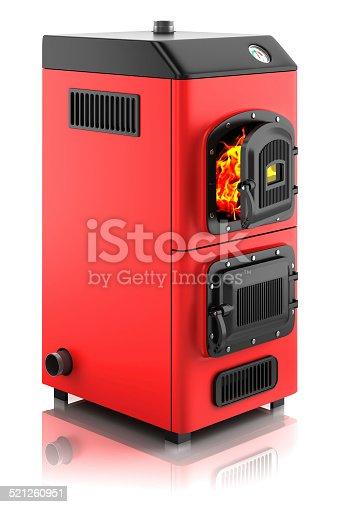 istock Solid fuel boiler. 521260951
