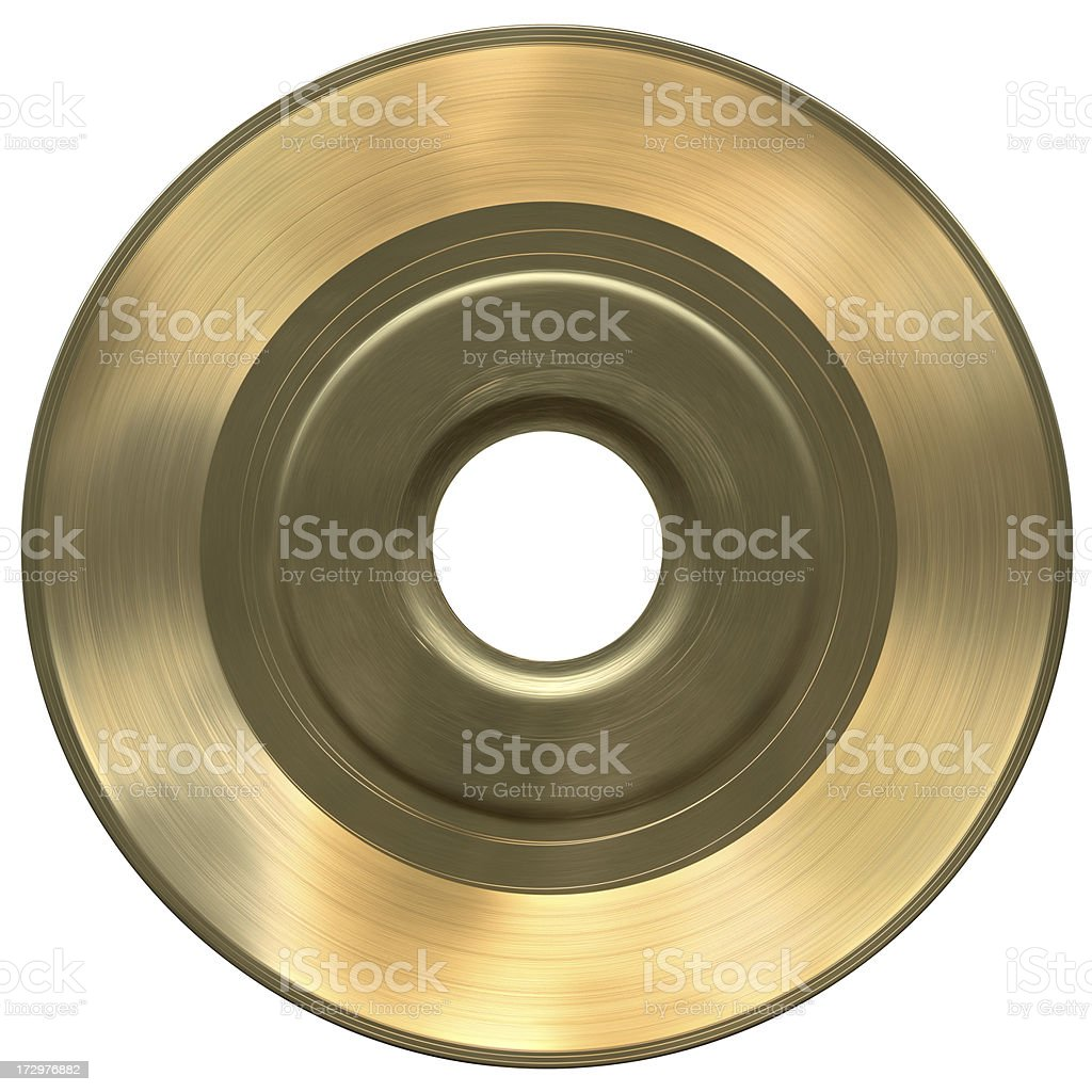 Solid Gold 45 with Clipping Path stock photo