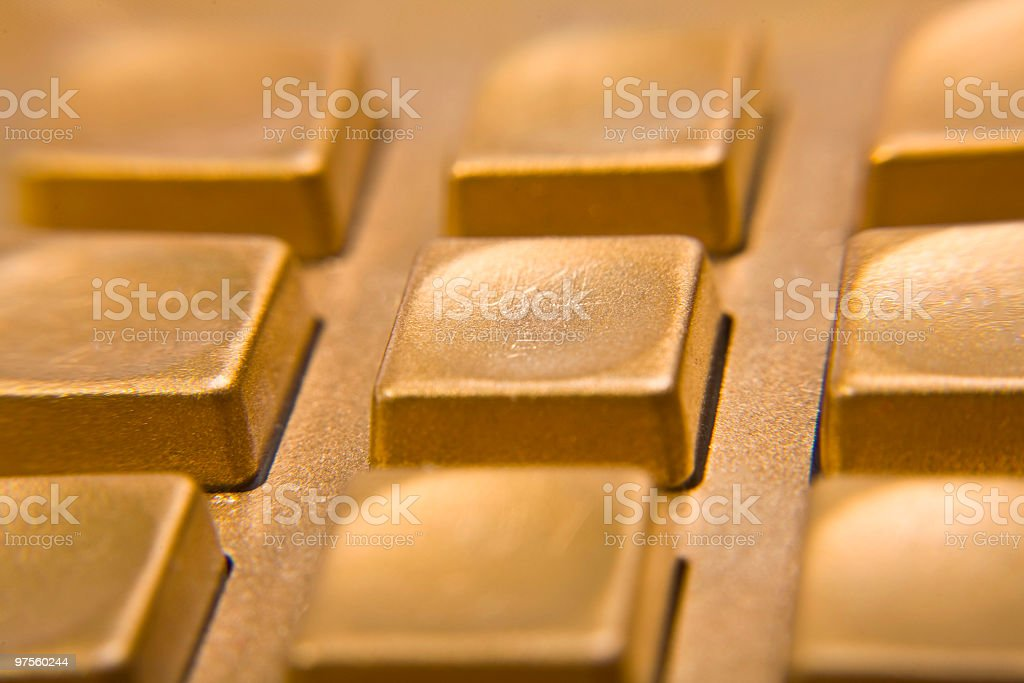 Solid Gold Buttons royalty-free stock photo