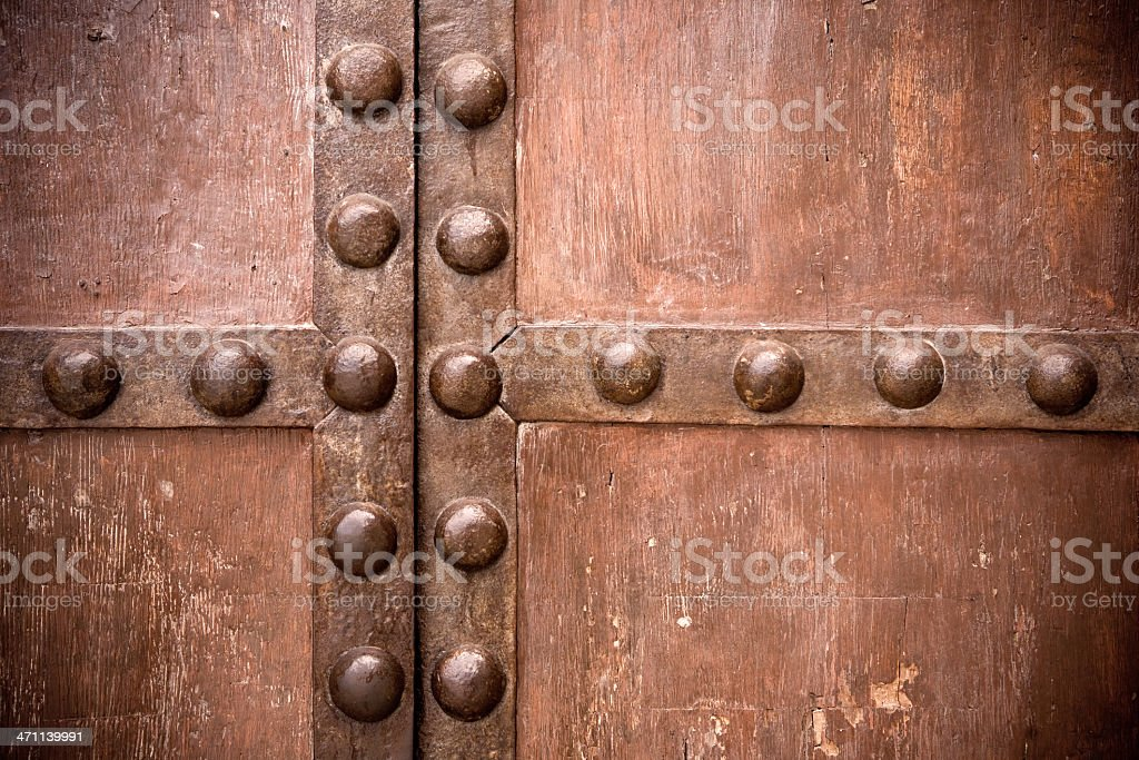 Solid Medieval door royalty-free stock photo