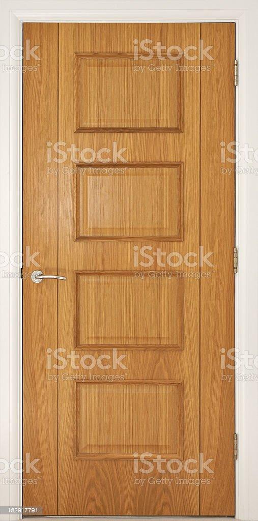 solid oak internal door royalty-free stock photo