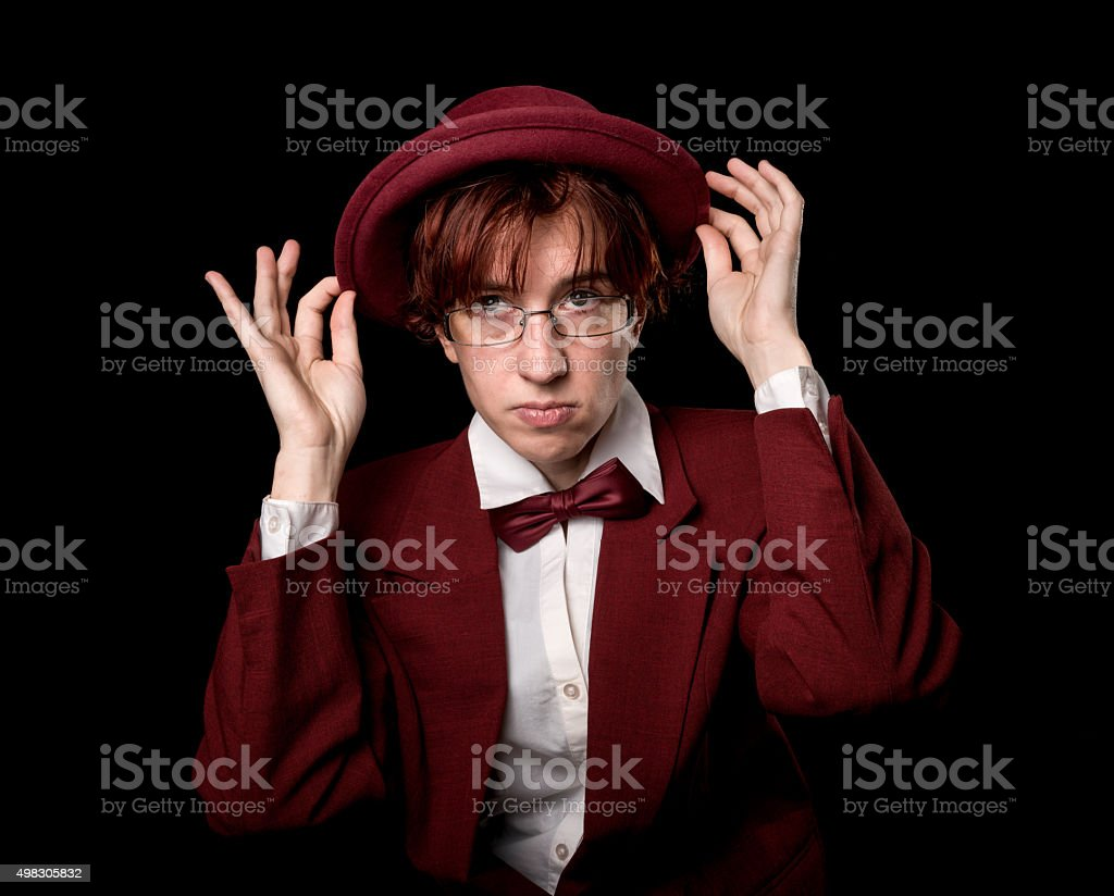 Solid person stock photo