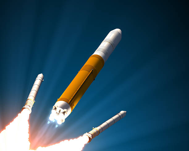 Einfarbige Rocket Organe Trennung – Foto