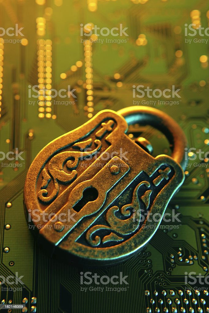 Solid Security royalty-free stock photo