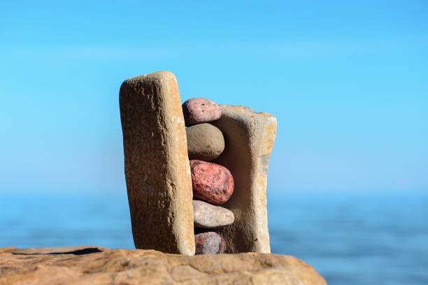Solid stack stones stock photo