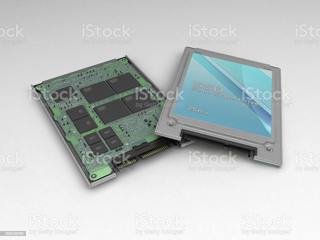 Solid State Drive (SSD) computer disk royalty-free stock photo
