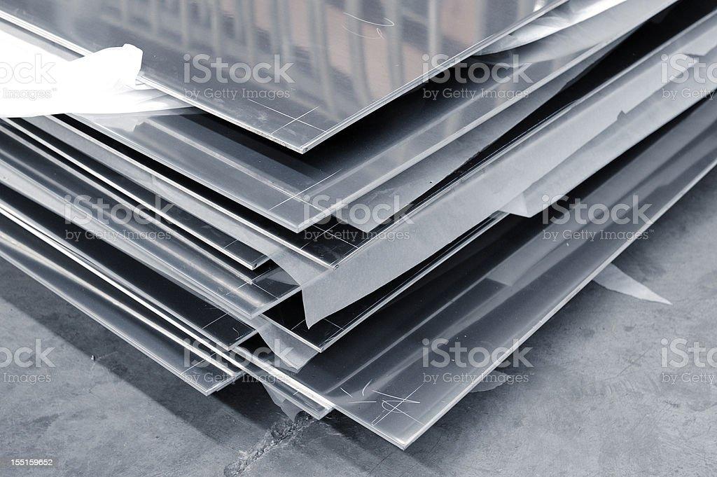 Solid Steel-Aluminium plates royalty-free stock photo