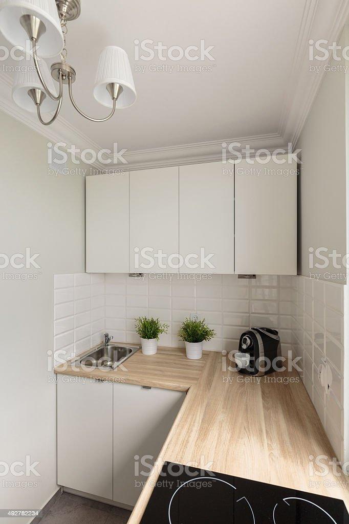 Piano Di Lavoro Per Cucina In Legno.Tinta Unita Cucina Piano Di Lavoro In Legno Fotografie