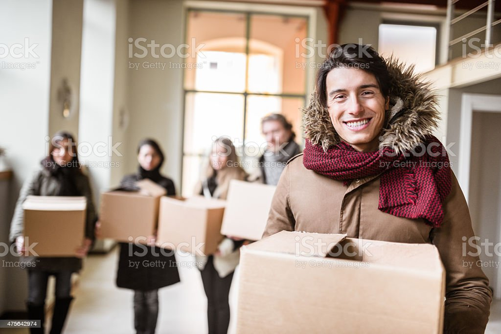 Solidarity to move the office royalty-free stock photo