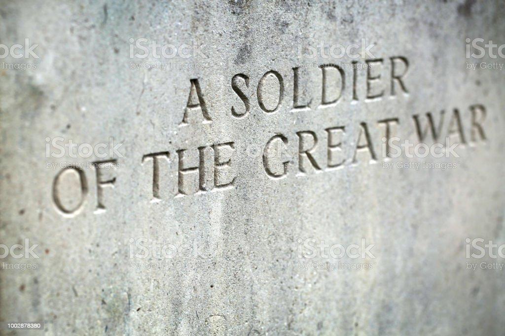 Soldat de la grande guerre - Photo
