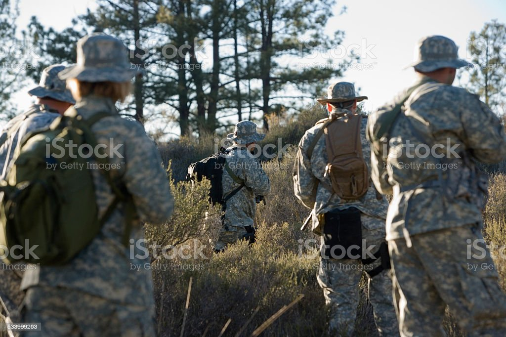 Solider with gun stock photo