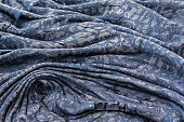 Solidified lava creates abstract background.