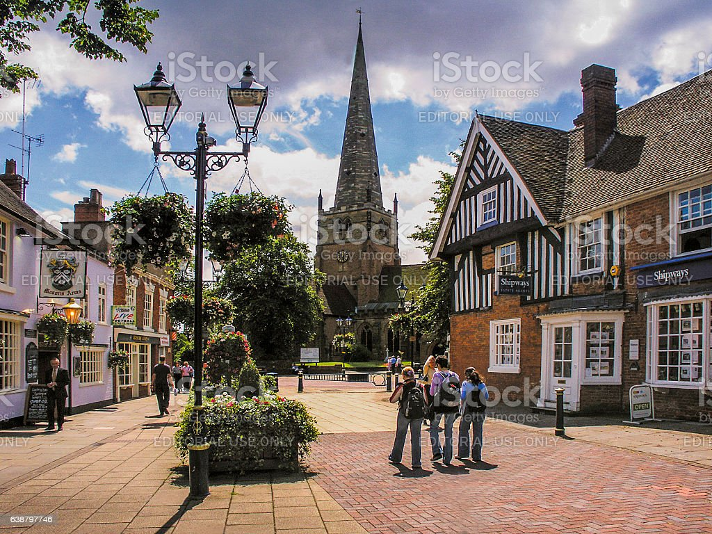 solihull town centre west midlands uk stock photo