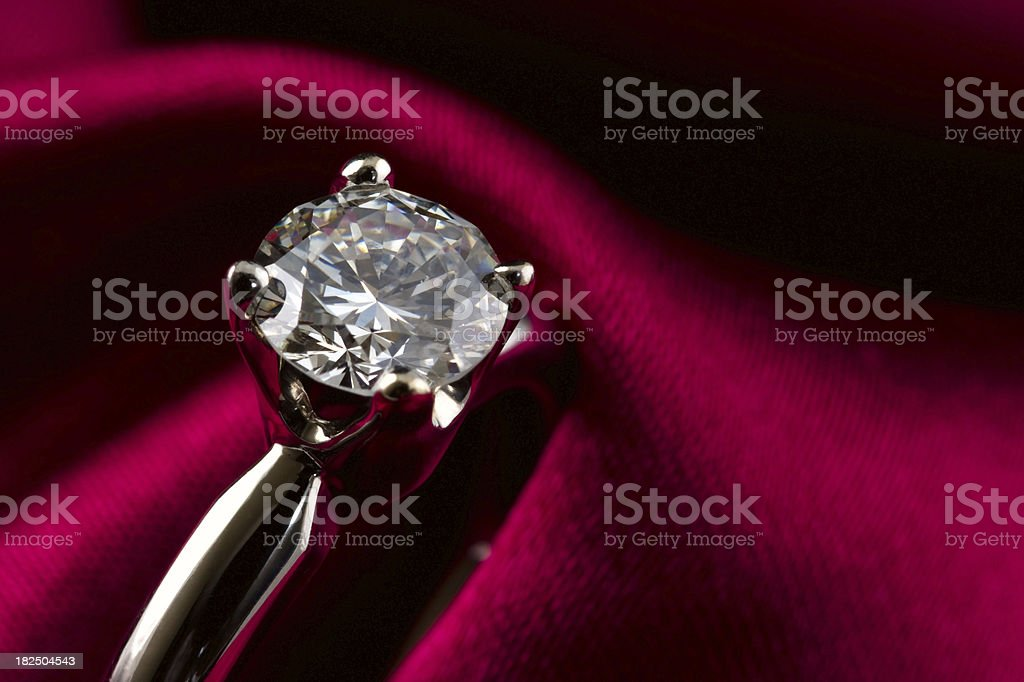 Solitaire Diamond Ring stock photo