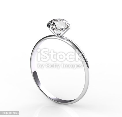 istock Solitaire diamond ring 866042966