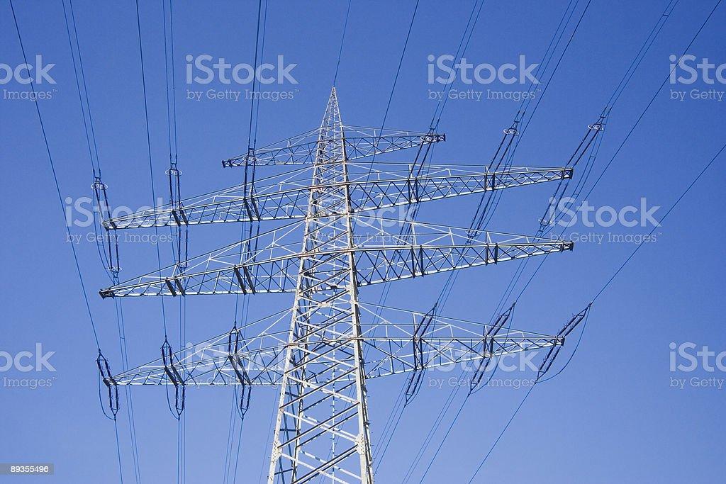 solitary electricity pylon royalty free stockfoto