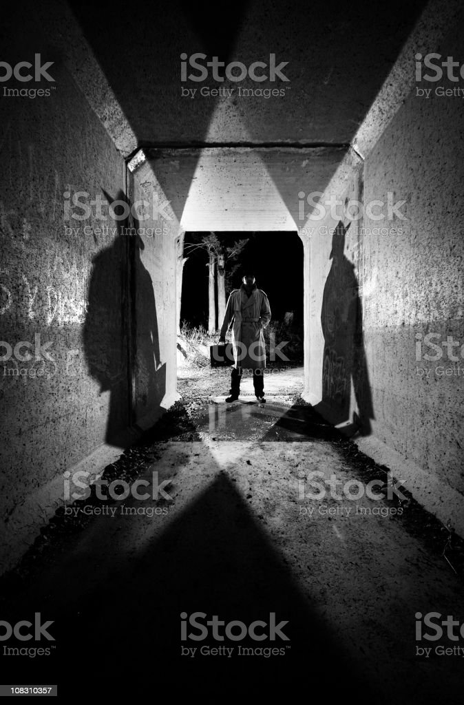Solitary figure stock photo