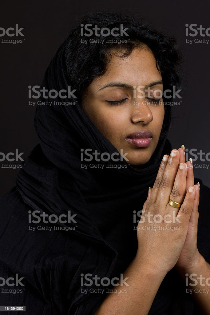 Solitary Prayer stock photo