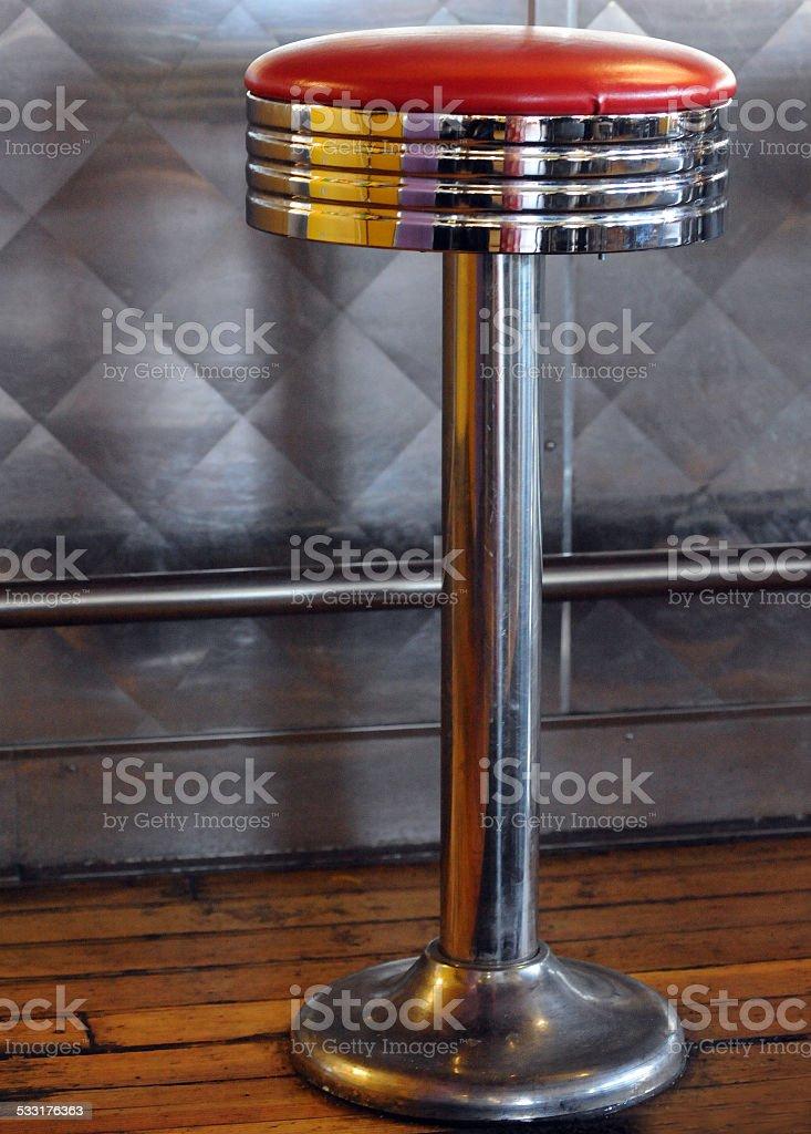 Solitary Stool stock photo