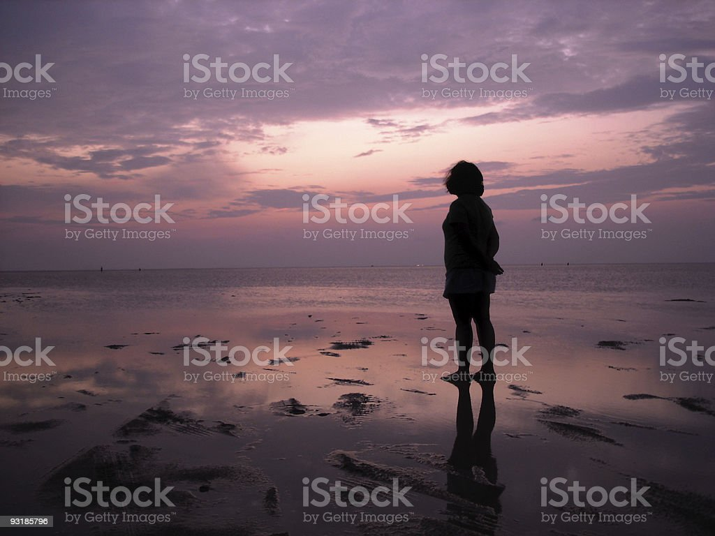 Solitude at Sunset royalty-free stock photo