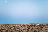 Abandoned camper trailer at the Joshua Tree National Park, USA