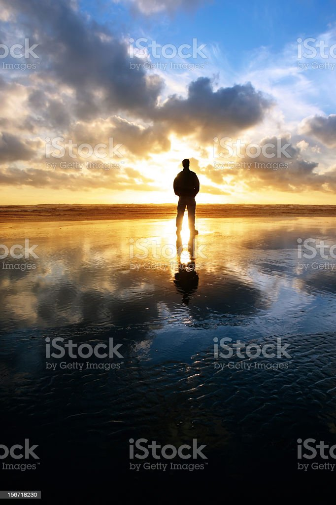 XXL solitude beach silhouette royalty-free stock photo