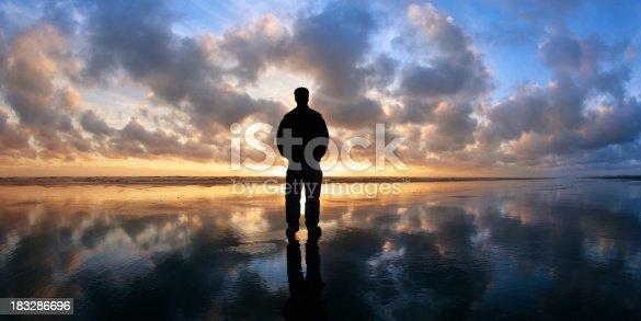 istock XL solitude beach silhouette 183286696