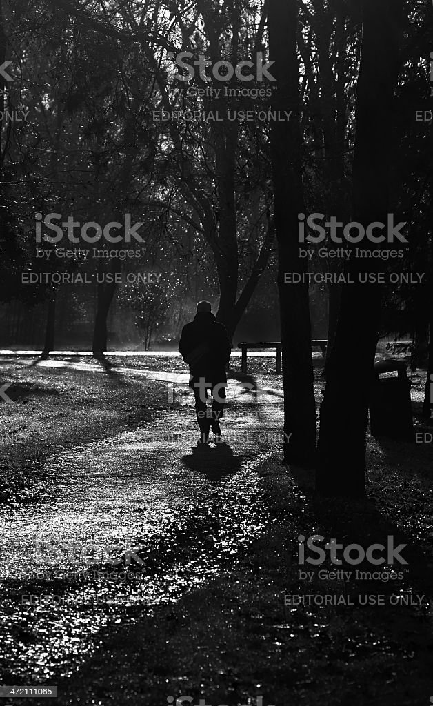Solitude. Black and White royalty-free stock photo