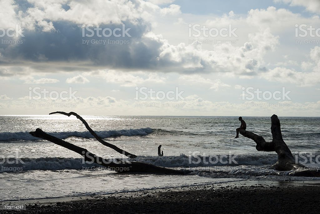 Solitude by the sea in Dominical, Costa Rica royalty-free stock photo