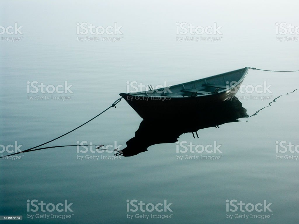 Solitude - Dorey on the water royalty-free stock photo