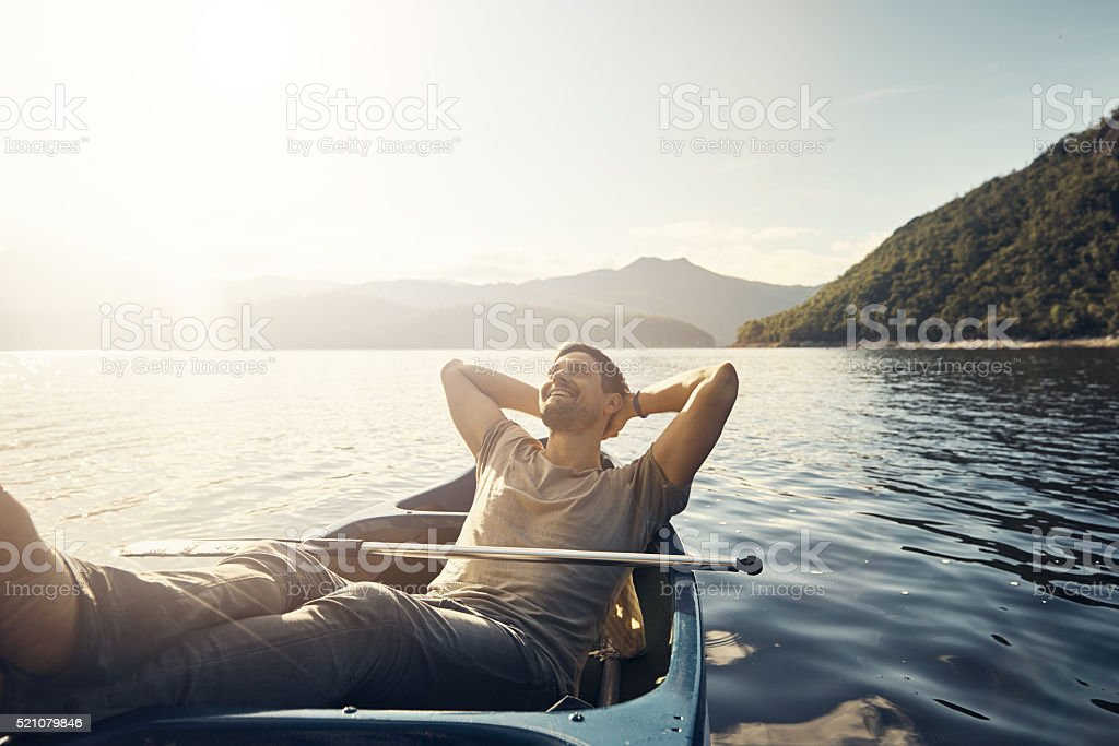 Solitude in nature is bliss stock photo