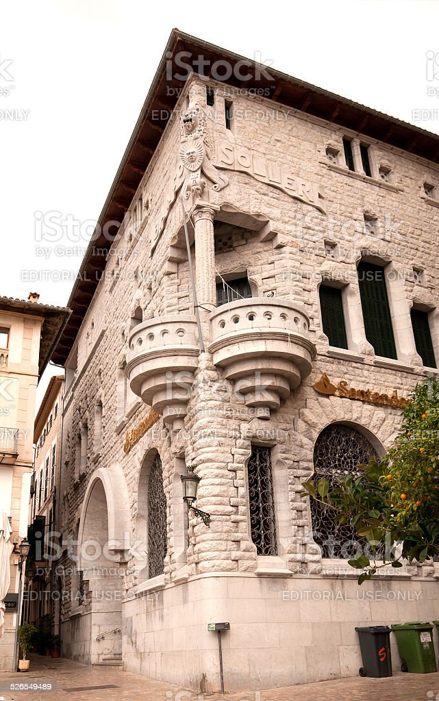 Soller bank building stock photo
