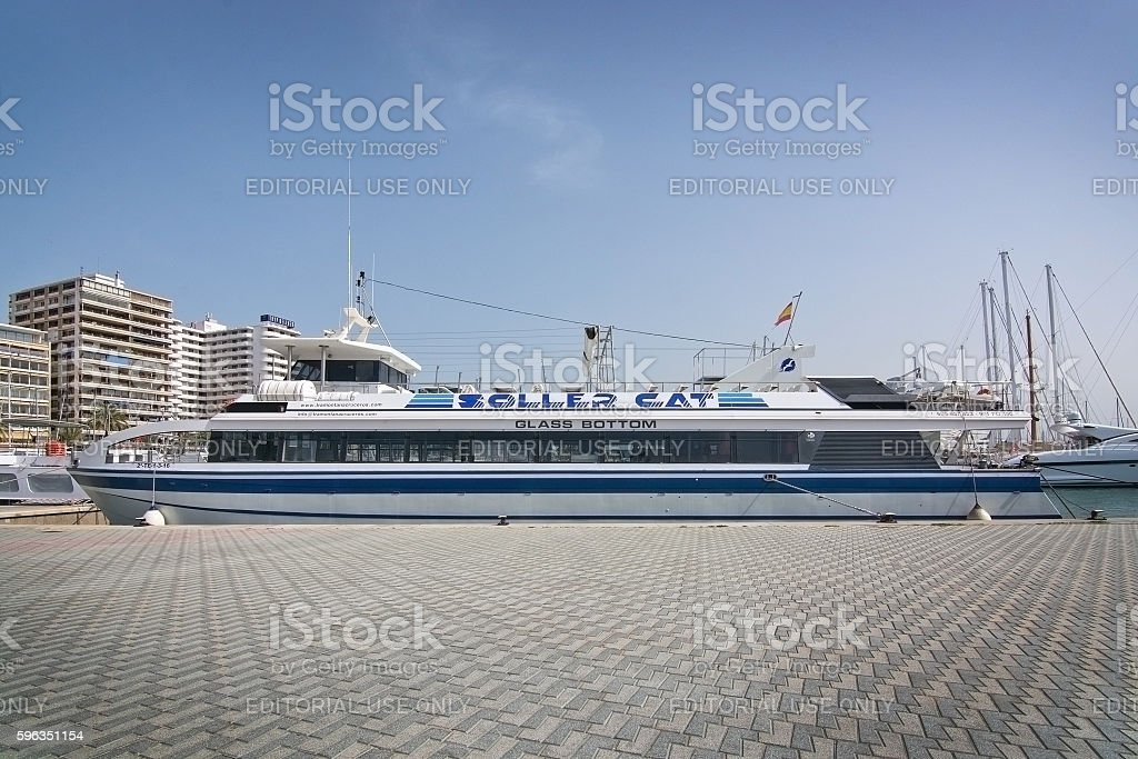 Soller Cat glass bottom boat royalty-free stock photo