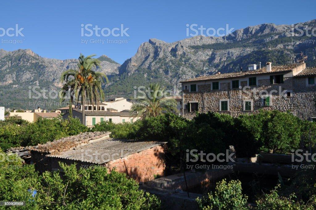 Soller, Majorca stock photo