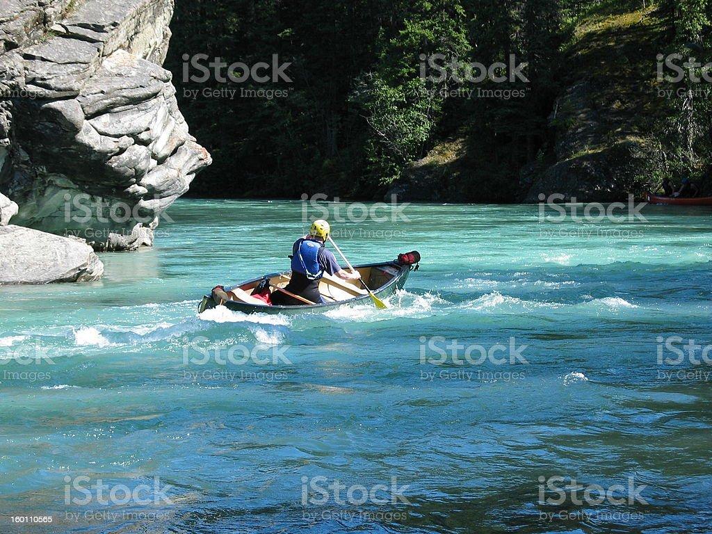 Solo Canoe royalty-free stock photo