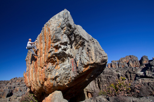 Solo Climber Stock Photo - Download Image Now