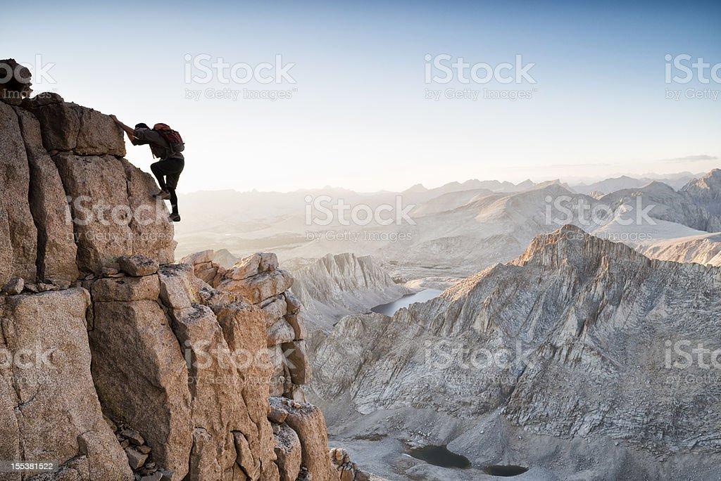 solo climbing royalty-free stock photo