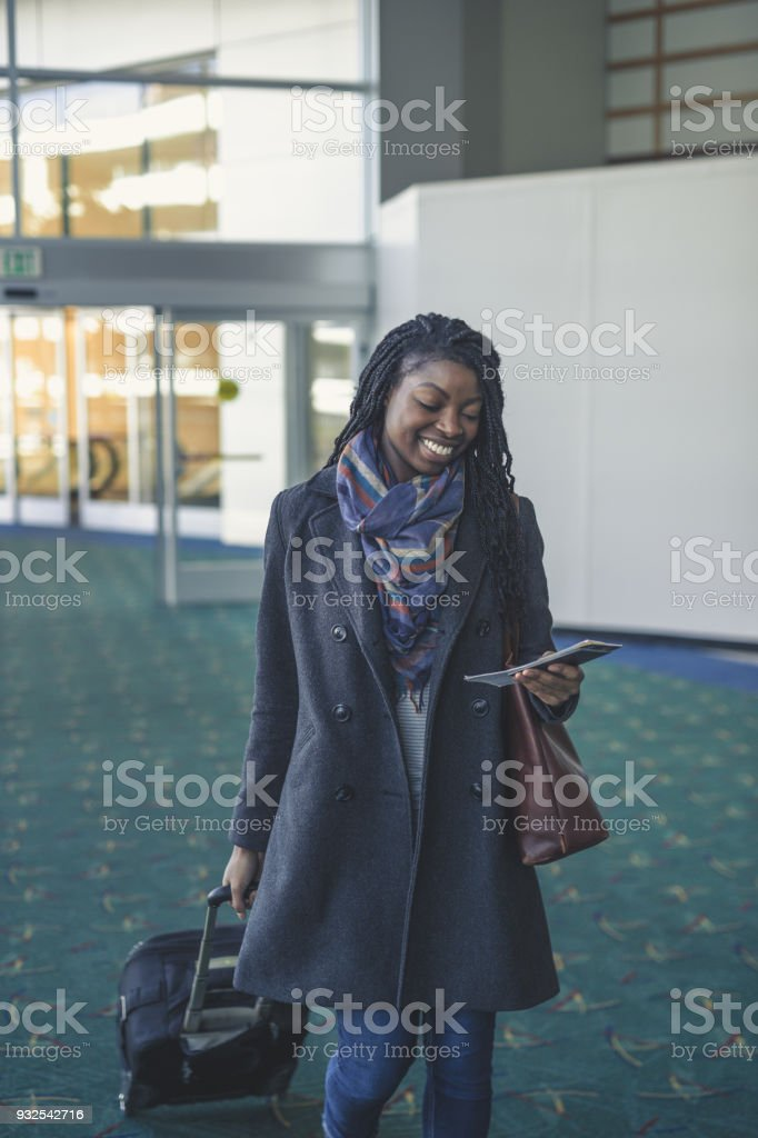 Solo Female Traveler stock photo