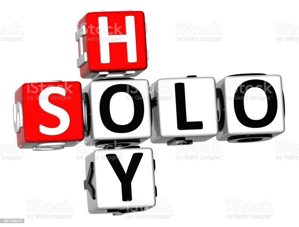 3D Solo Hoy Crossword royalty-free stock photo