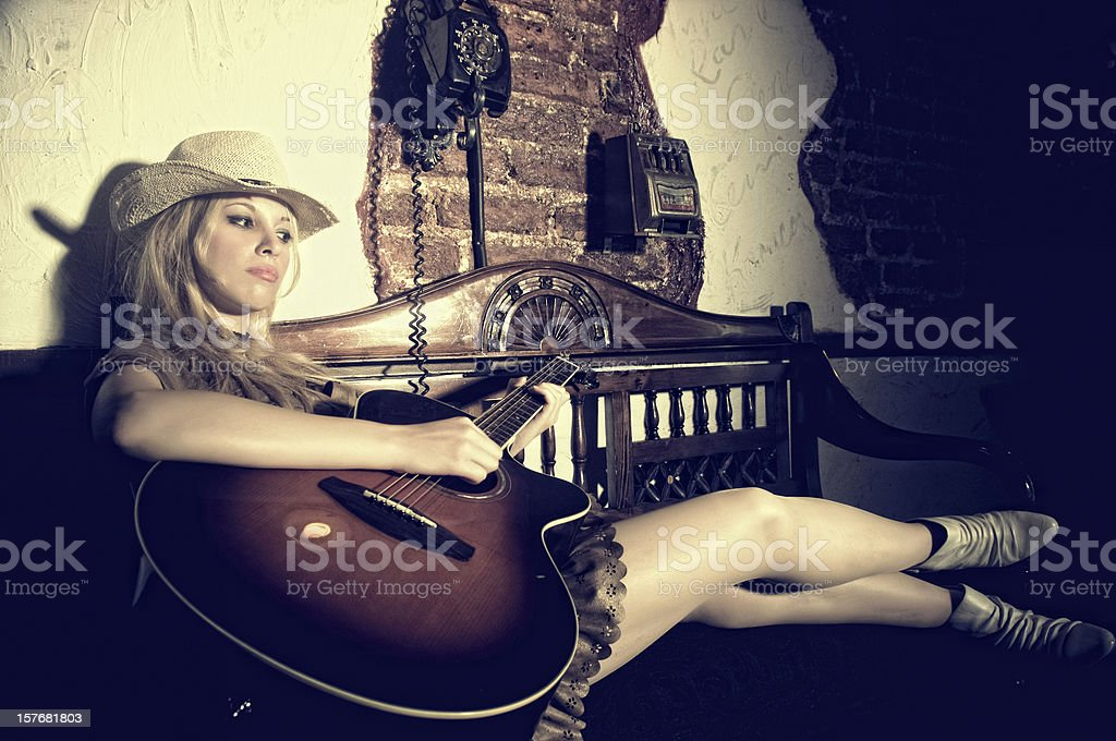 Solo musician royalty-free stock photo