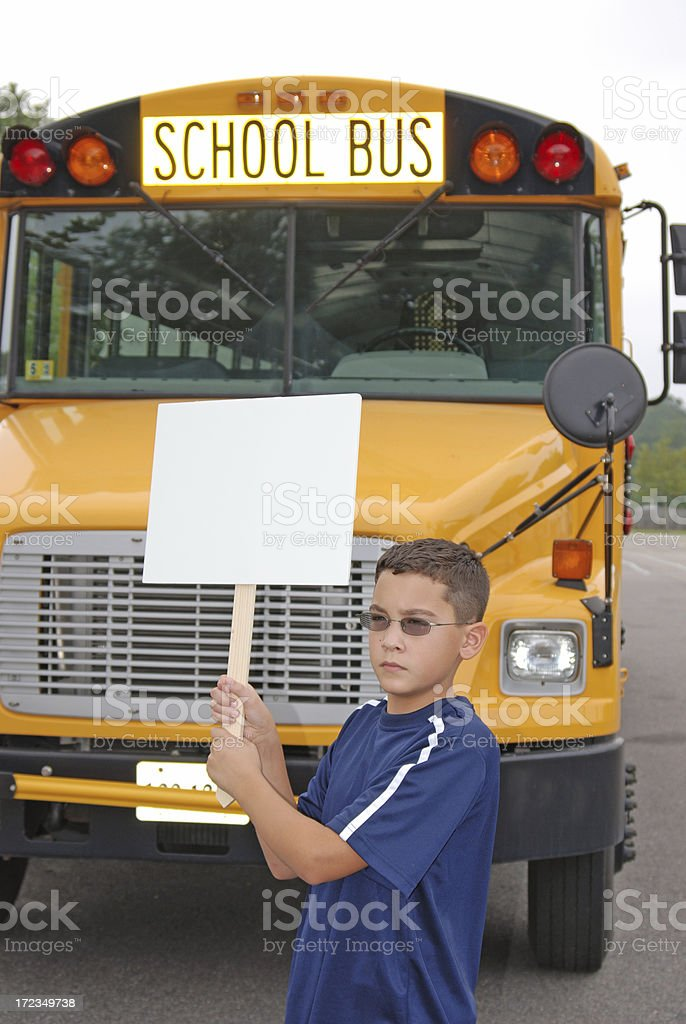 Solo Protest - At School royalty-free stock photo