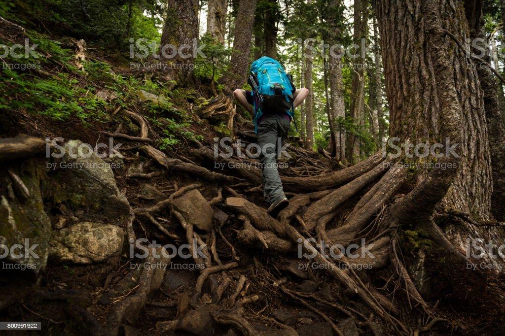 Solo travel stock photo