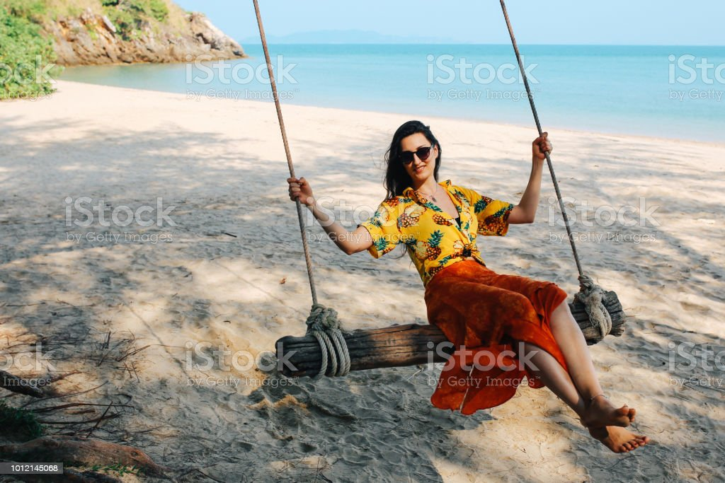 Solo Traveler Relaxing On The Beach Of The Koh Lanta Island Thailand Stock Photo Download Image Now Istock