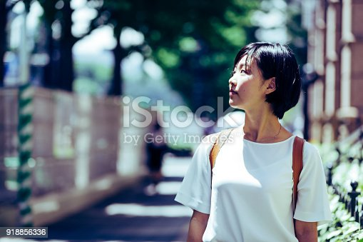 istock Solo Traveler walking on the streets of Tokyo 918856336